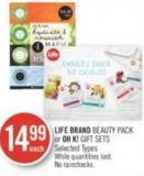 Life Brand Beauty Pack or Oh K! Gift Sets