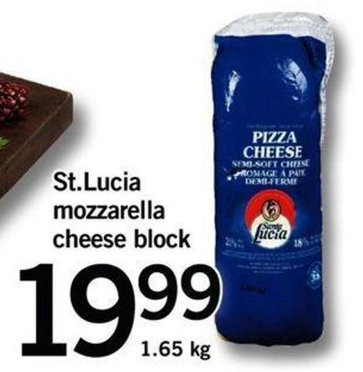 St.lucia Mozzarella Cheese Block
