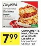 Compliments Meat - Chicken or Vegetable Lasagna