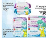 PC Scented Or Unscented Wipes - 100's