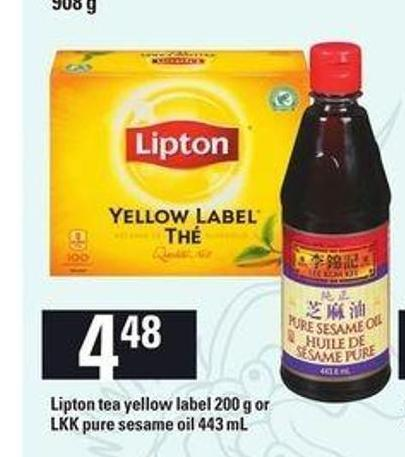 Lipton Tea Yellow Label - 200 g Or Lkk Pure Sesame Oil - 443 mL