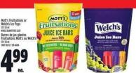 Mott's Fruitsations Or Welch's Ice Pops 12 X 53 ml