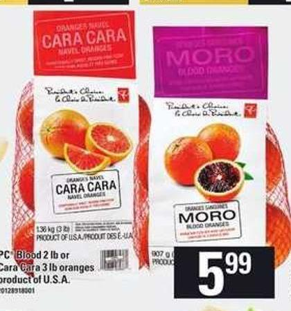 PC Blood 2 Lb Or Cara Cara 3 Lb Oranges