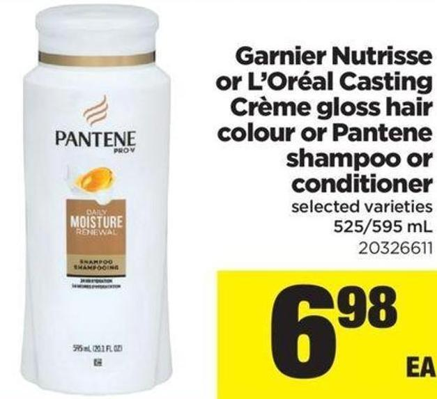 Garnier Nutrisse Or L'oréal Casting Crème Gloss Hair Colour Or Pantene Shampoo Or Conditioner - 525/595 mL