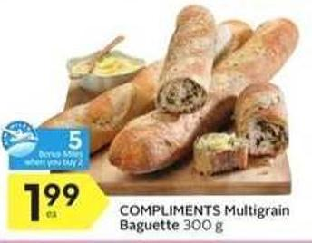 Compliments Multigrain Baguette - 5 Air Miles
