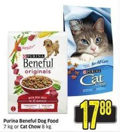 Purina Beneful Dog Food 7 Kg or Cat Chow 8 Kg