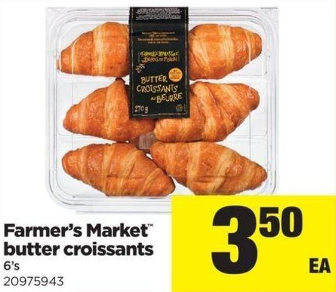 Farmer's Market Butter Croissants - 6's