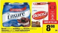 Boost 6x237 Ml - Pudding 142 G - Ensure 6x235 Ml Or Glucerna 6x237 Ml Meal Replacement