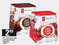 PC Cane Sugar Soda - 4x250 mL