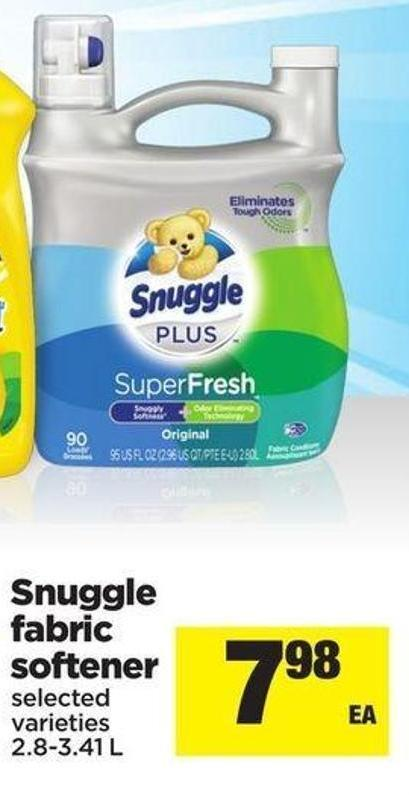 Snuggle Fabric Softener - 2.8-3.41 L