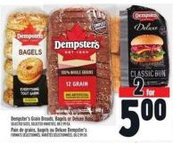 Dempster's Grain Breads - Bagels Or Deluxe Buns