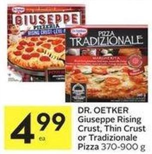 Dr. Oetker Giuseppe Rising Crust - Thin Crust or Tradizionale Pizza