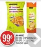 No Name Potato Chips (200g) or Crisps (142g - 150g)