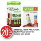 Crossfuel - Vegan Pure Powder - Vega Shakes or Smoothies