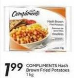 Compliments Hash Brown Fried Potatoes