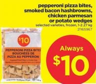 Pepperoni Pizza Bites - Smoked Bacon Hashbrowns - Chicken Parmesan Or Potato Wedges - 1-2.27 Kg