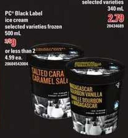 PC Black Label Ice Cream - 500 mL