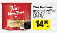 Tim Hortons Ground Coffee - 640-930 g