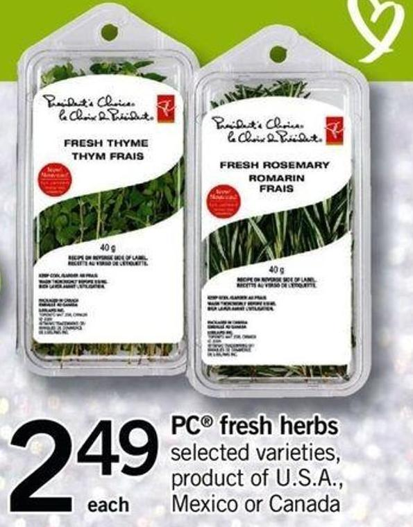 PC Fresh Herbs