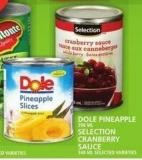 Dole Pineapple Or Selection Cranberry Sauce