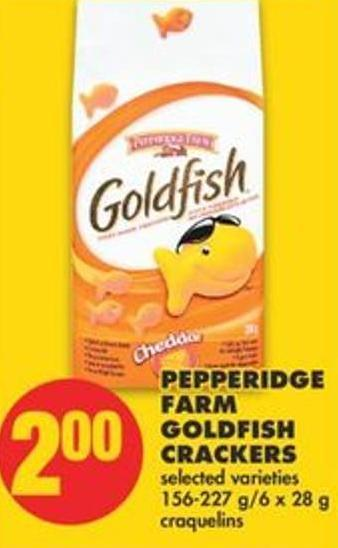 Pepperidge Farm Goldfish Crackers - 156-227 G/6 X 28 G