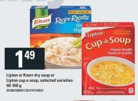 Lipton Or Knorr Dry Soup Or Lipton Cup A Soup - 40-166 G