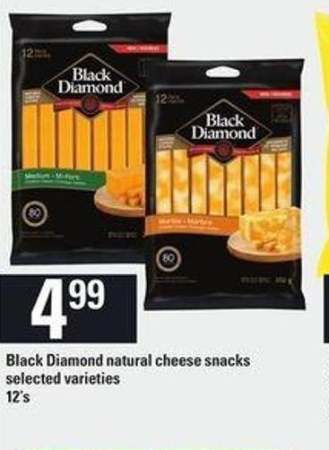 Black Diamond Natural Cheese Snacks - 12's