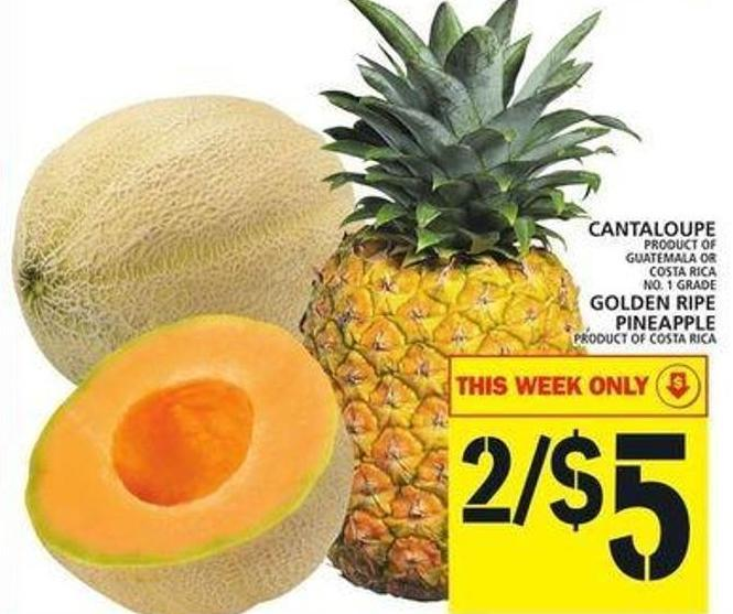 Cantaloupe Or Golden Ripe Pineapple