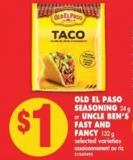 Old El Paso Seasoning - 24 g or Uncle Ben's Fast And Fancy - 132 g