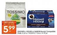 Maxwell House or Nabob Keurig Compatible Pods