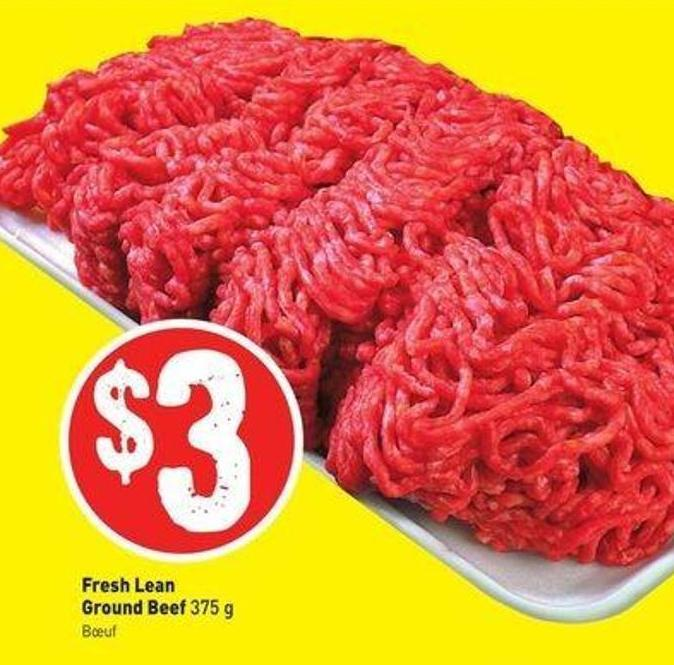 Fresh Lean Ground Beef 375 g