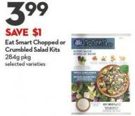 Eat Smart Chopped or Crumbled Salad Kits  284g Pkg
