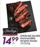 Sterling Silver Montreal Bbq Striploin Steaks
