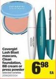 Covergirl Lash Blast Mascara - Clean Foundation - Bb Cream Or Press Powder