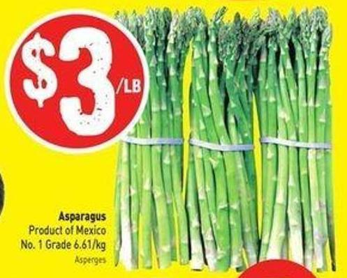 Asparagus Product of Mexico No. 1 Grade 6.61/kg