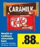 Nestlé Or Cadbury Chocolate Bars - 33-60 g
