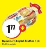 Dempster's English Muffins 6 Pk