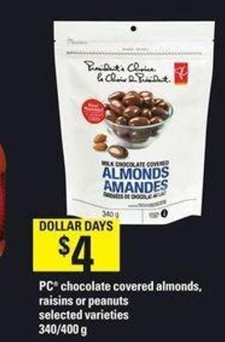PC Chocolate Covered Almonds - Raisins Or Peanuts - 340/400 g
