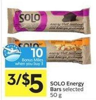 Solo Energy Bars - 10 Air Miles
