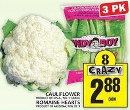 Cauliflower Or Romaine Hearts