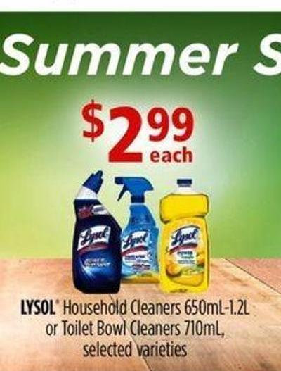 Lysol Household Cleaners - 650ml-1.2l Or Toilet Bowl Cleaners - 710ml