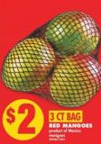Red Mangoes - 3 Ct Bag