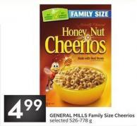 General Mills Family Size Cheerios