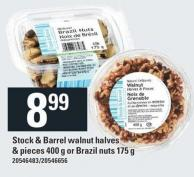 Stock & Barrel Walnut Halves & Pieces 400 G Or Brazil Nuts 175 G