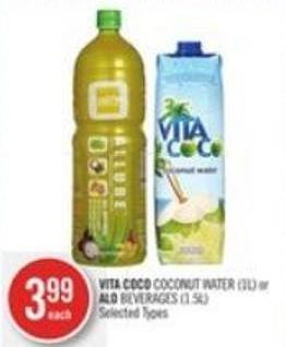 Vita Coco Coconut Water (1l) or Alo Beverages (1.5l)