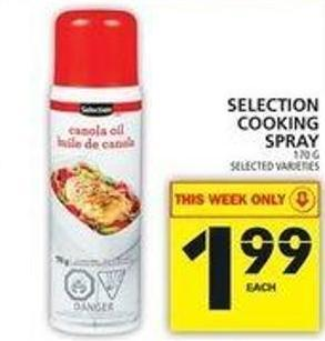 Selection Cooking Spray