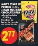 M&m's Stand Up Pouches - 185-230 g or Mars Multipack Chocolate Bars - 4's - 180-208 g