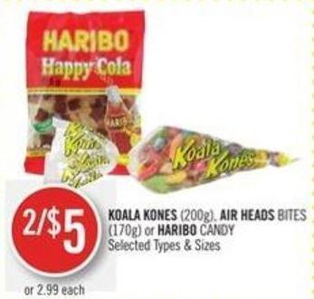 Koala Kones (200g) - Air Heads Bites (170g) or Haribo Candy