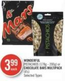 Wonderful Pistachios (178g - 200g) or Chocolate Bars Multipack (4's)