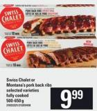 Swiss Chalet Or Montana's Pork Back Ribs - 500-650 G